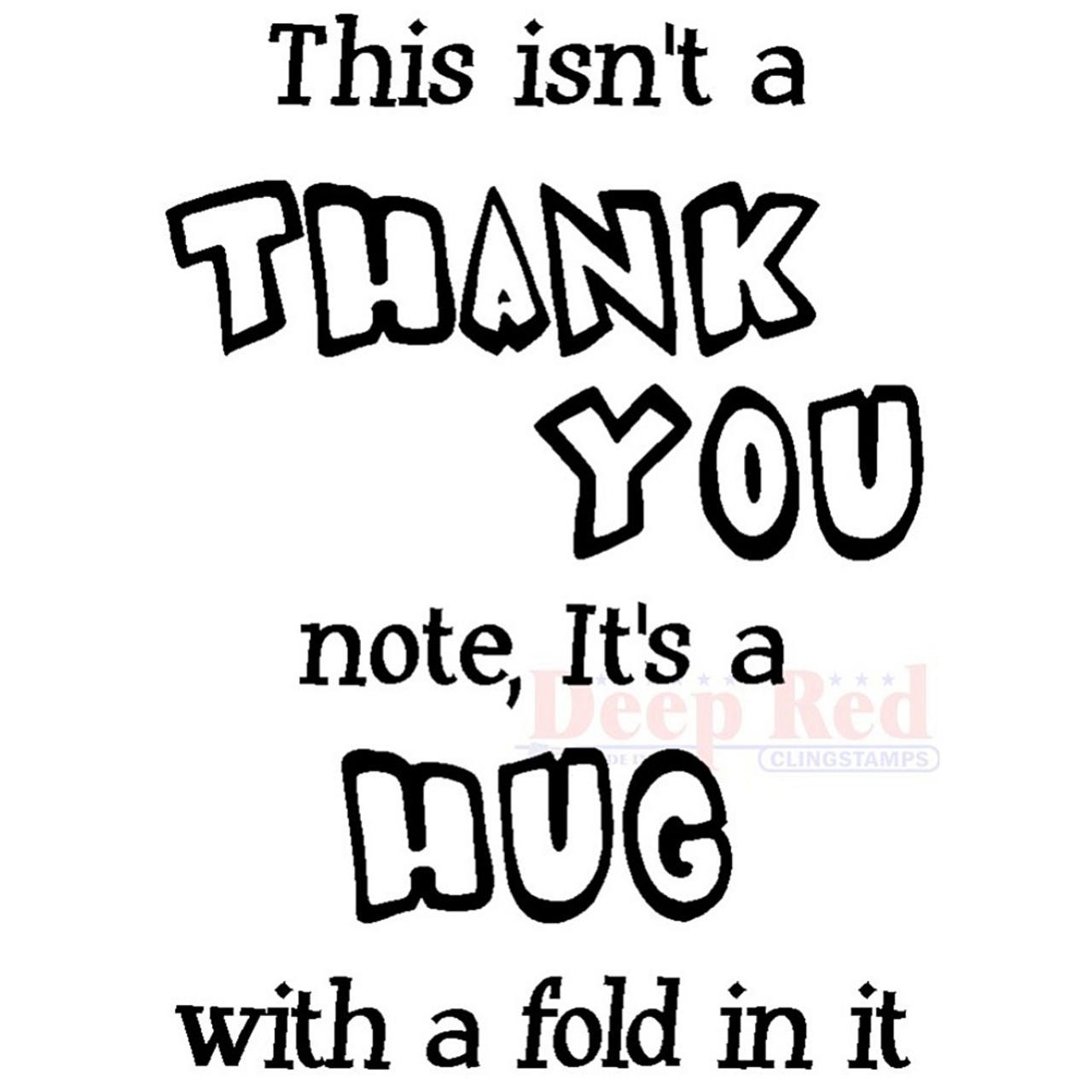 thank you hug rubber