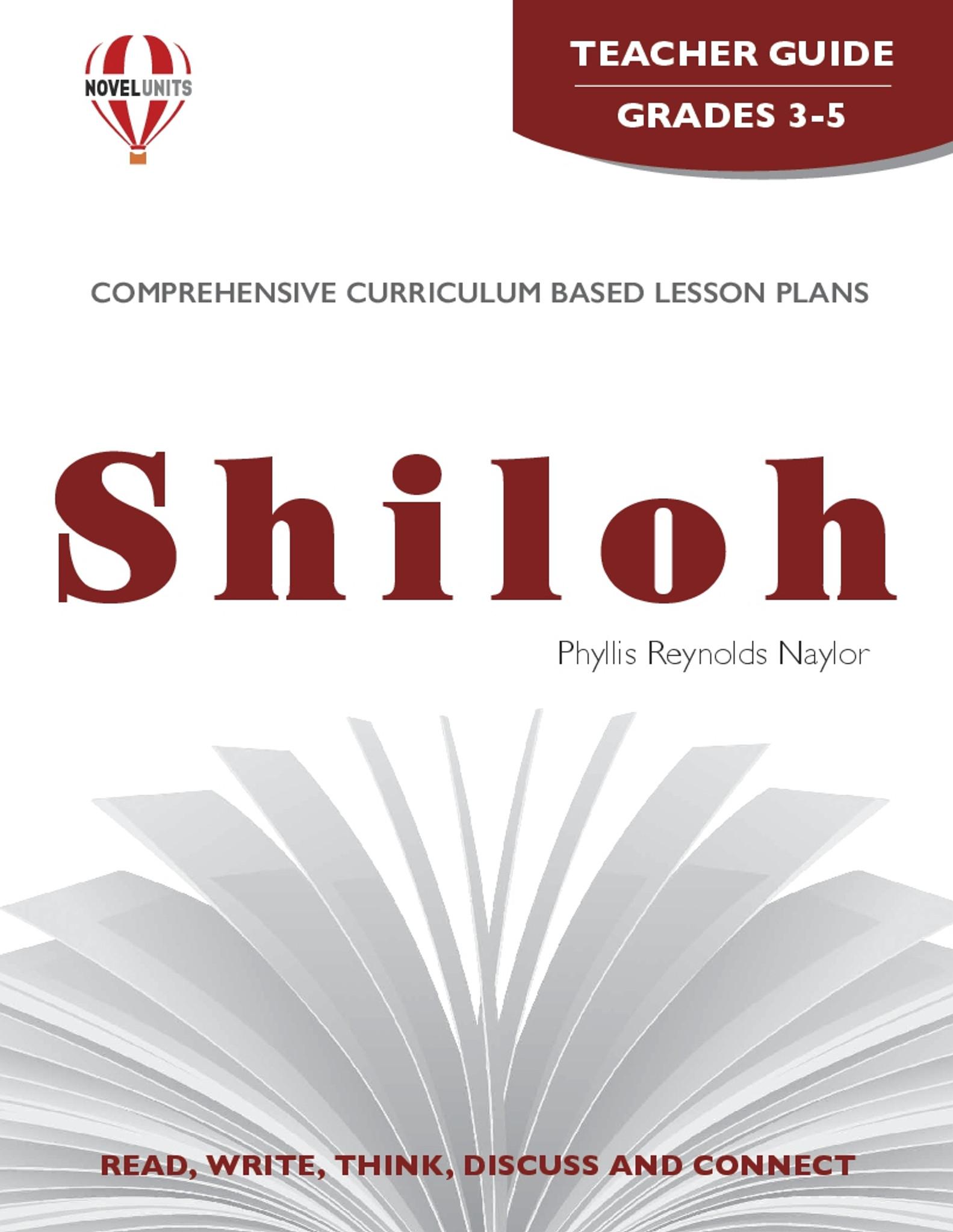 hight resolution of Shiloh Novel Unit Teacher Guide