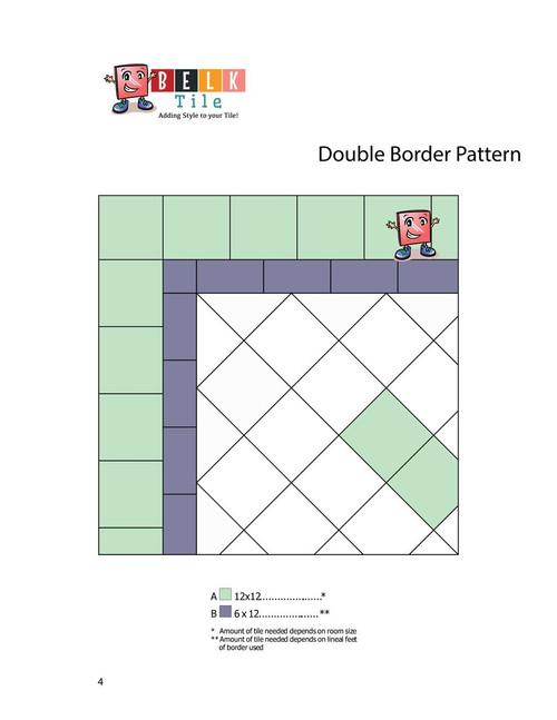 triangle border floor tile pattern