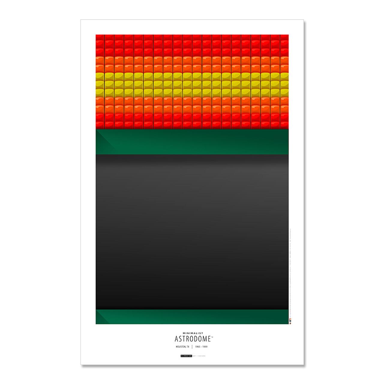houston astros astrodome art poster