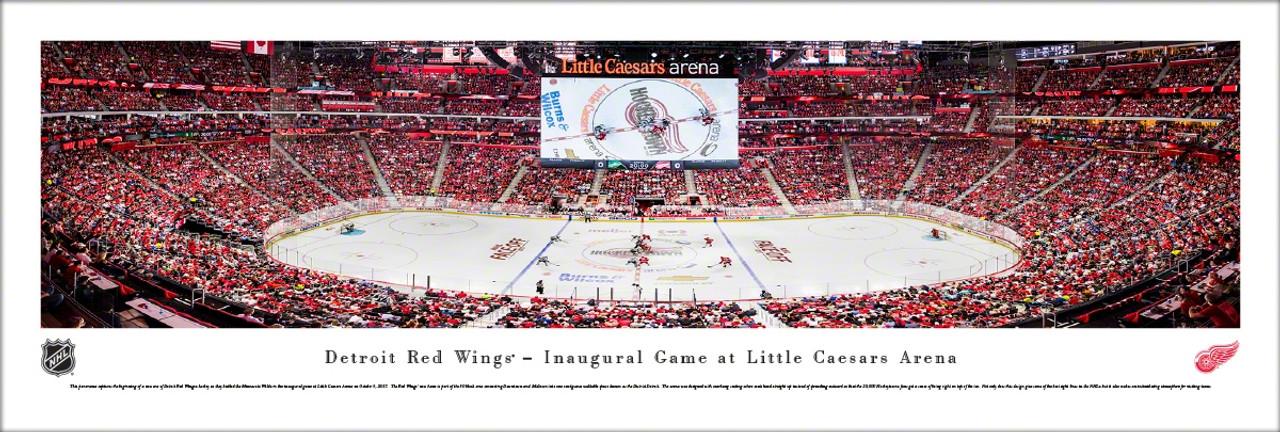 detroit red wings inaugural game at little caesars arena panoramic poster