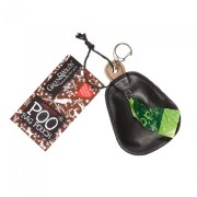 leather poo bag pouch