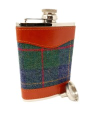 tweed hip flask gifts for him