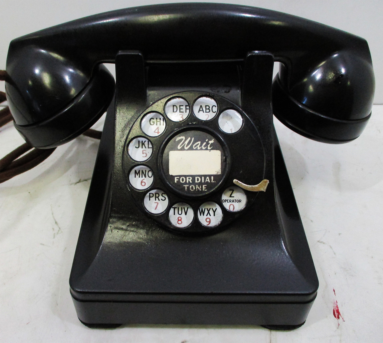 western electric model 302 prewar rotary telephone fully restored 1941 american collectibles [ 1280 x 1145 Pixel ]