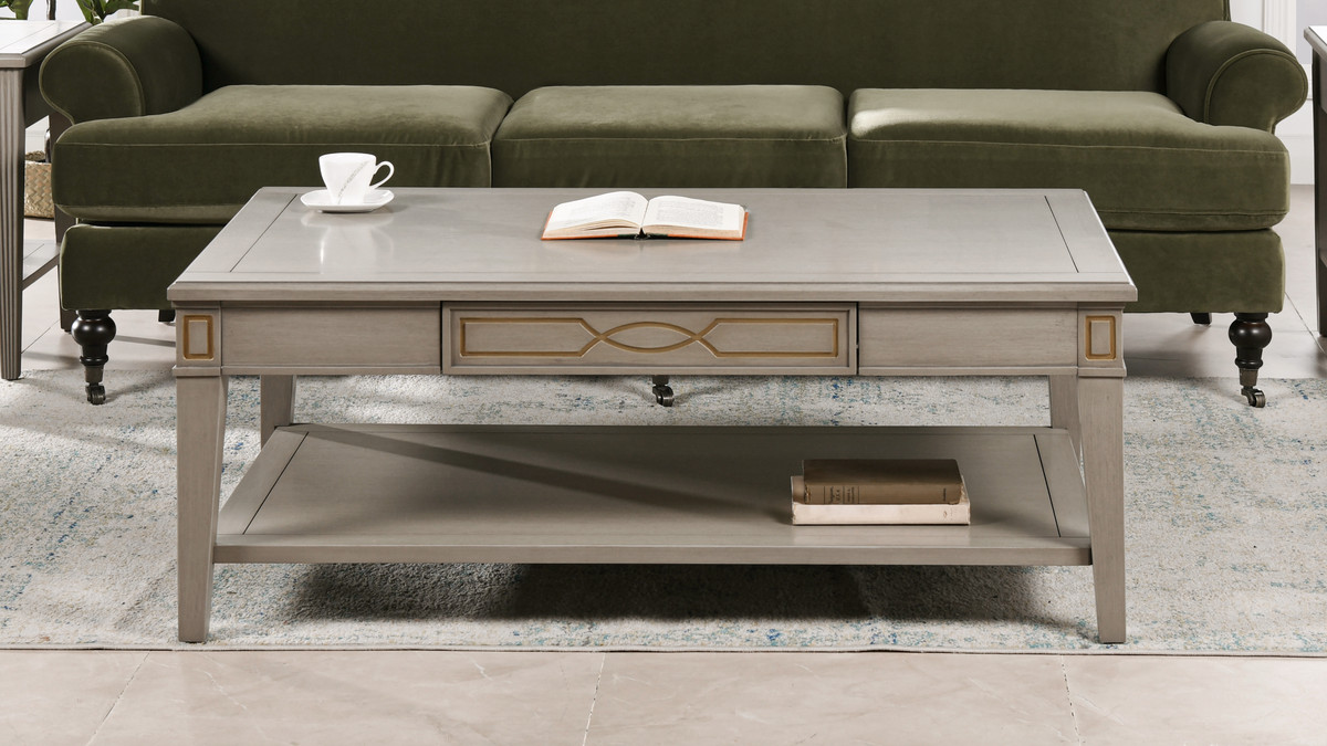 dauphin 50 rectangular storage coffee table grey cashmere