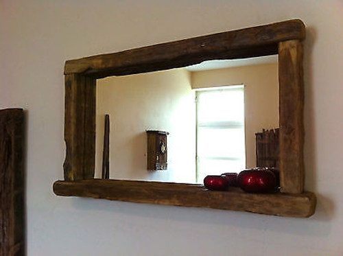 very large rustic wooden mirrors for