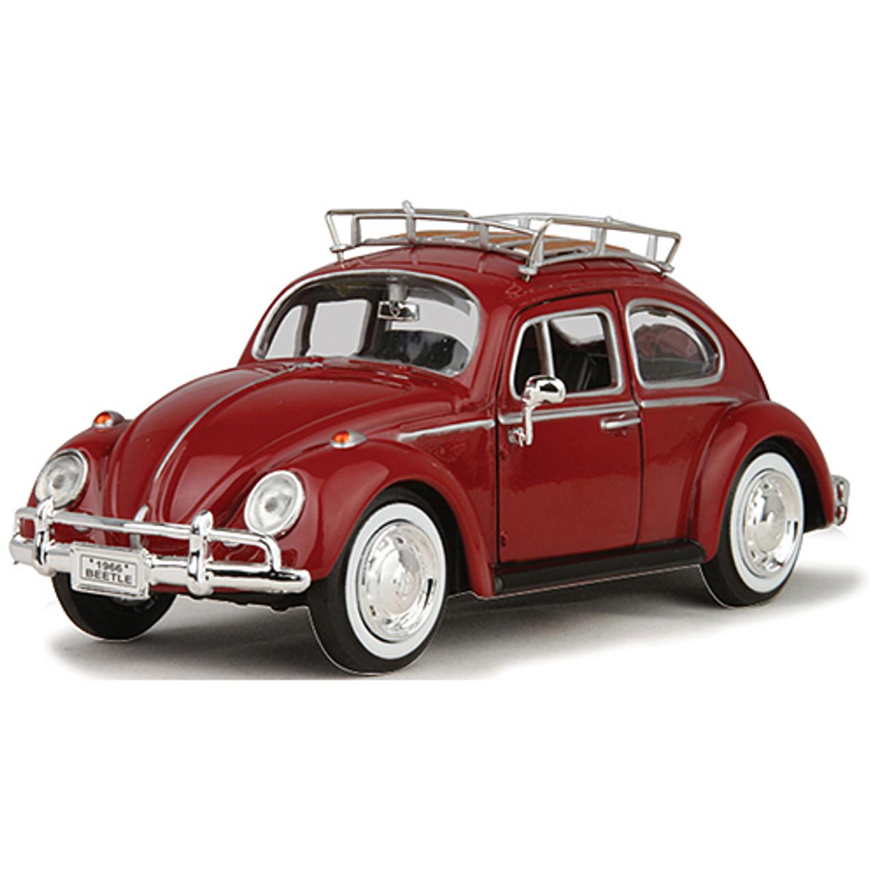 1966 vw beetle roof rack 1 24 scale diecast replica model by motormax