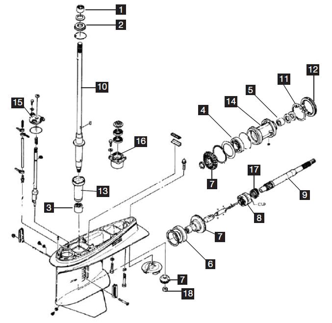 Yamaha 4 Cylinder Powerhead Components, F150 2004-2010