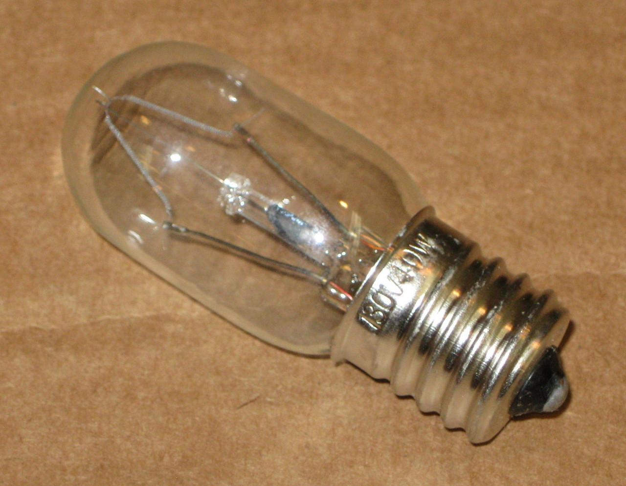 26qbp4093 bulb for 8206232a fowhirlpool microwave light lamp 40 watt 130 v