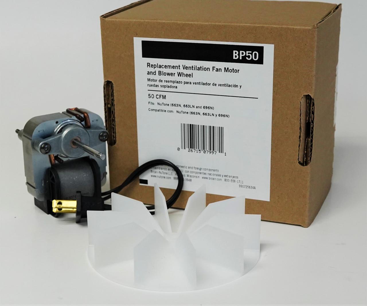 bp50 oem broan nutone vent bath fan motor for model 663n 663ln 696n 99080216 57n2