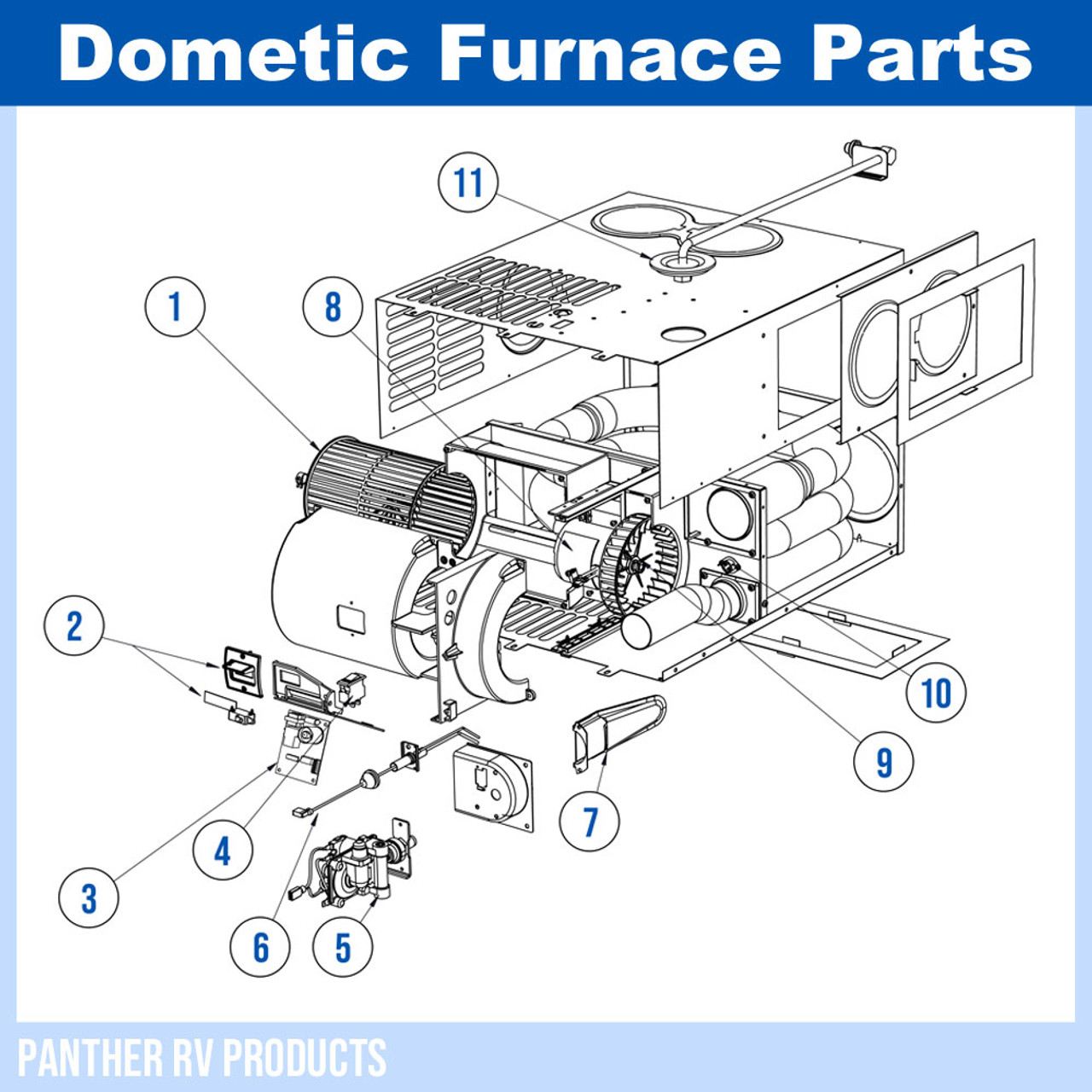 dometic atwood dfmd20 rv mojave propane heater furnace 20k parts breakdown