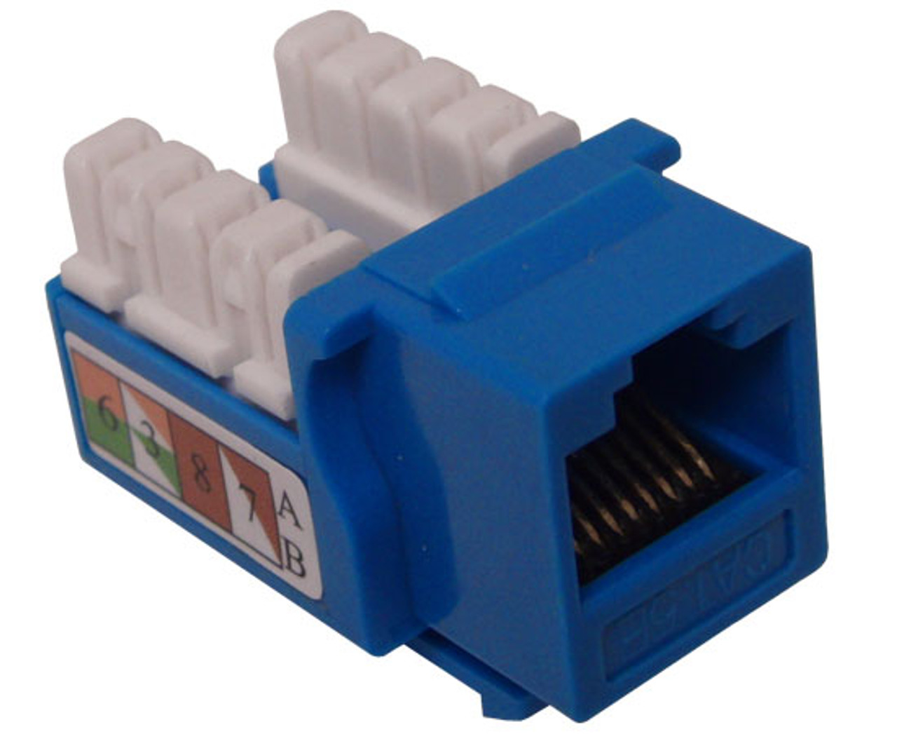 hight resolution of category 6 keystone computer jacks cablesupply blue rj45 computer jack cat6 110 punch down cablesupply