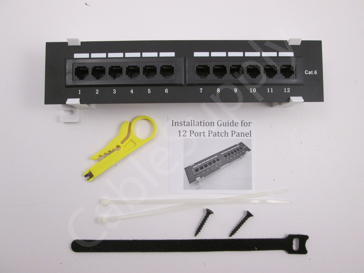 cat6 cat5e vertical wall mount mini patch panel 12 port cablesupply cat 6 connection diagram cat6 patch panel wiring diagram [ 1280 x 960 Pixel ]