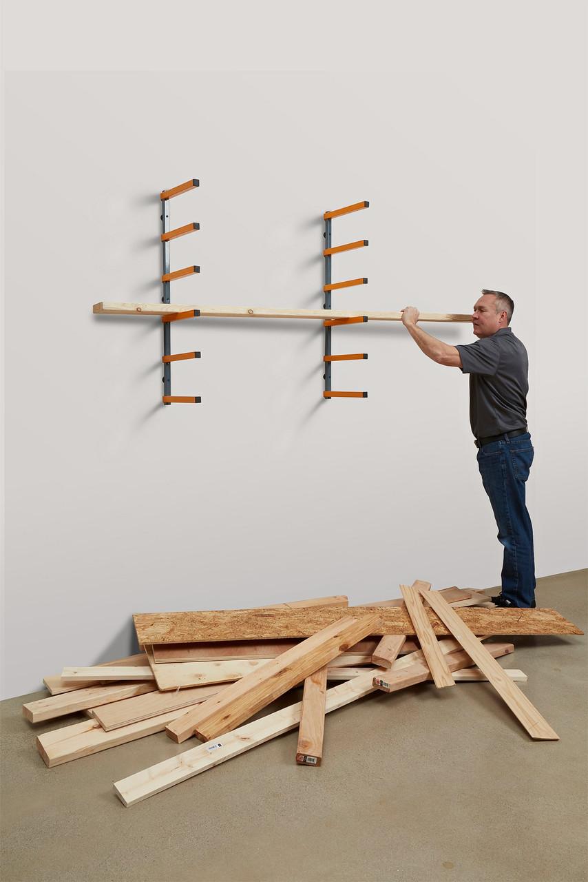 bora pbr 001 wood organizer lumber storage metal rack 6 level wall mount