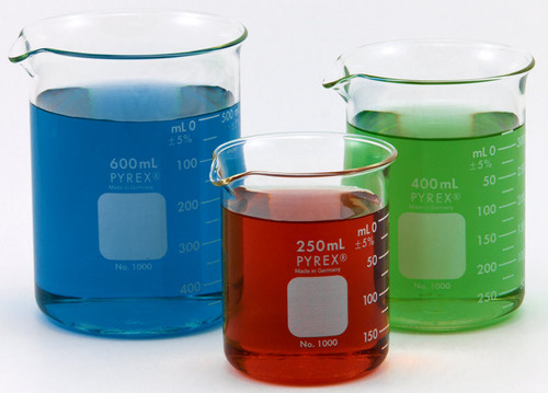 pyrex beakers all sizes