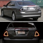 2010 2012 Ford Fusion Factory Style Led Tail Lights Matte Black Housing Clear Lens Spec D Tuning