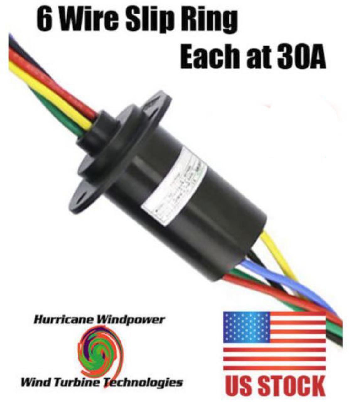 medium resolution of wind generator slip ring 6 wire 180 amp