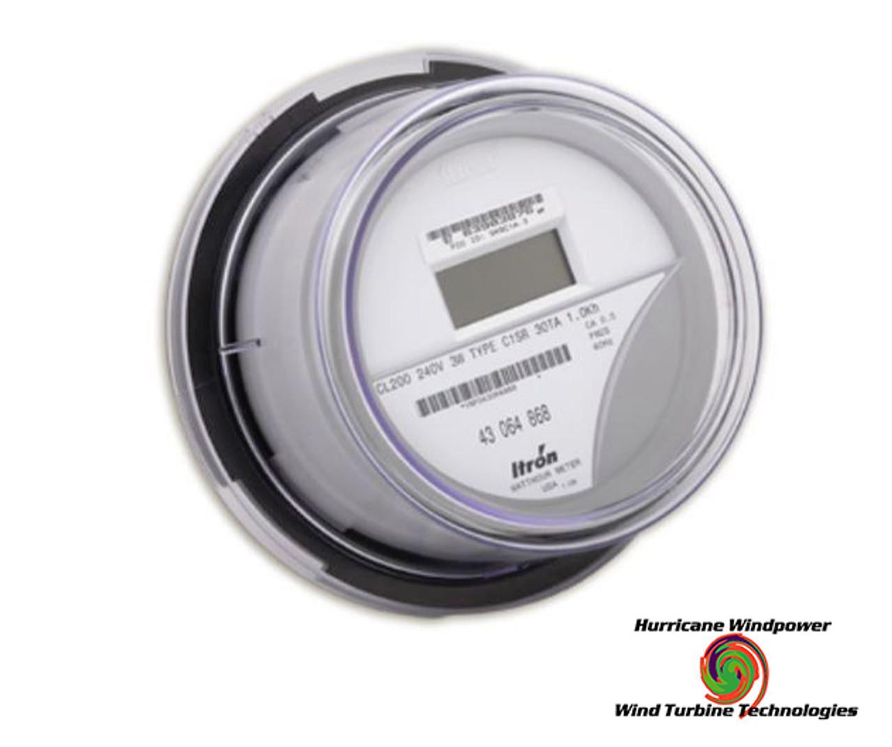 medium resolution of itron kilowatt hour meter form 2s lcd digital 240vac cl200 sp centron solar meter wiring diagram