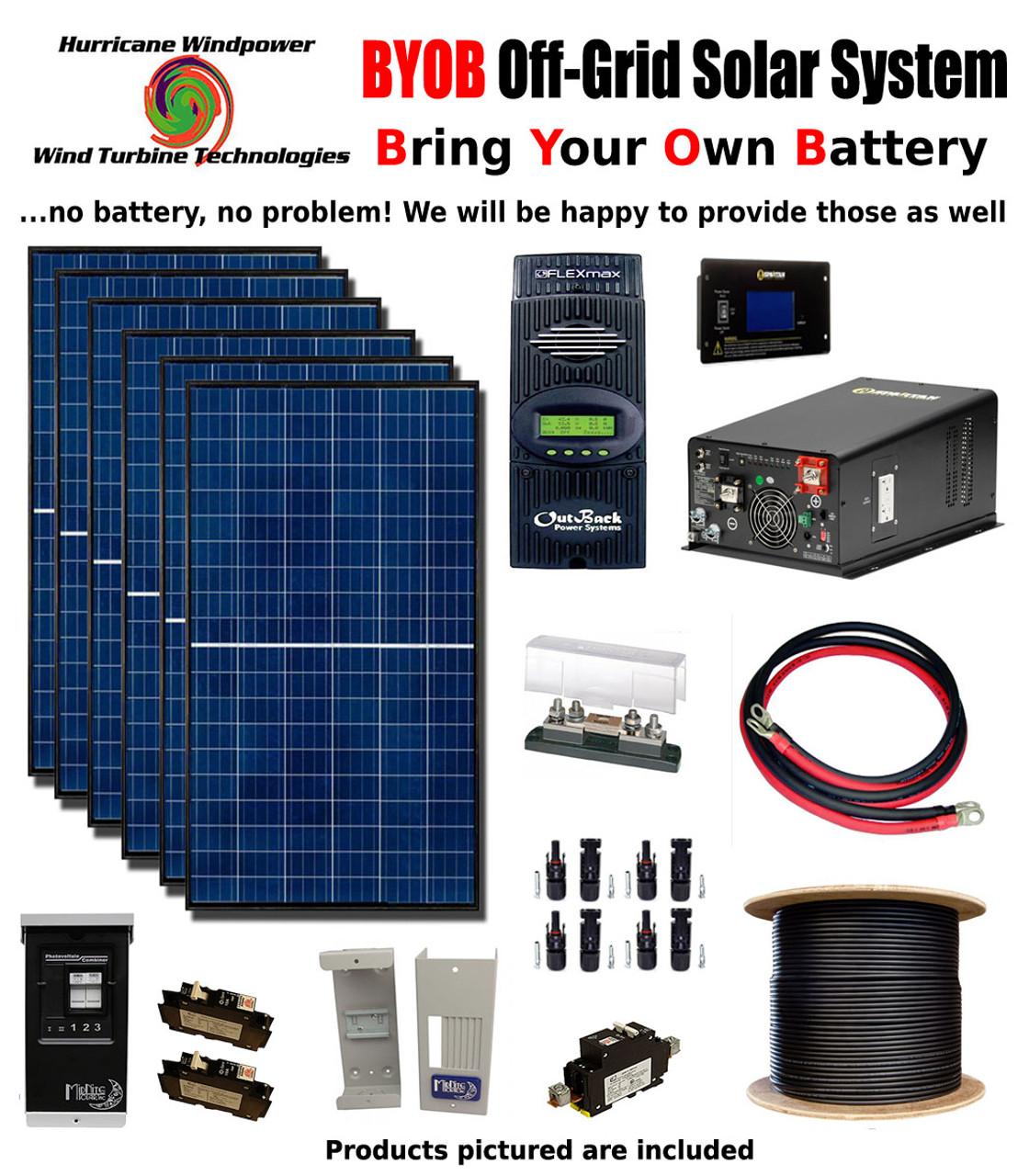byob off grid 1740w 24v solar panel kit tiny house cabin pv system outback fm80 [ 1120 x 1280 Pixel ]
