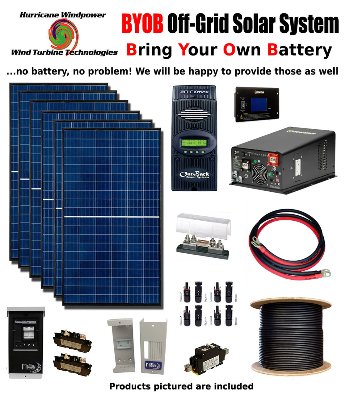 small resolution of byob off grid 1740w 24v solar panel kit tiny house cabin pv system outback fm80