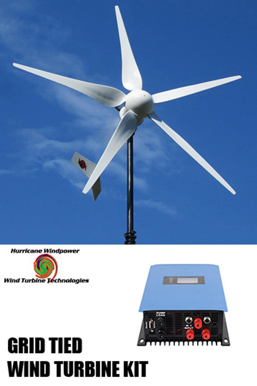 hurricane vector 48 volt grid tied wind turbine generator kit 1000 watt max 1500 watts [ 853 x 1280 Pixel ]