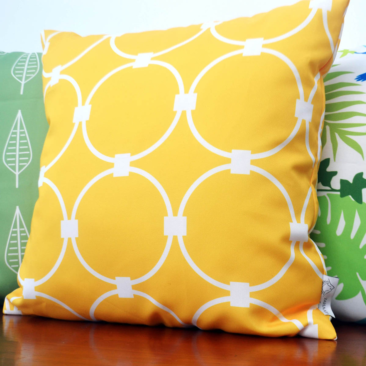 tuscany yellow waterproof outdoor cushion cover 16 or 18