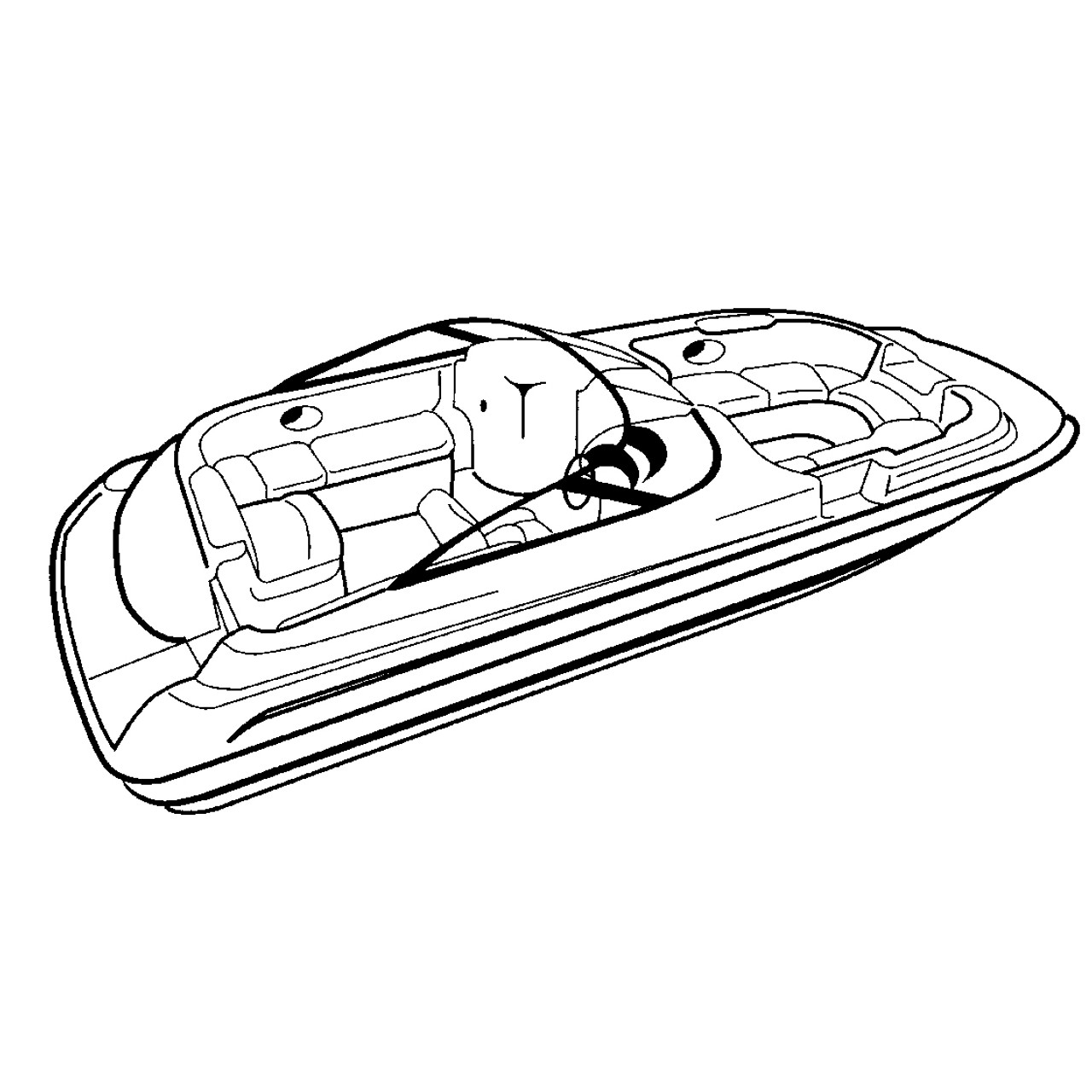 hight resolution of cover fits deck boat with walk thru windshield or side console