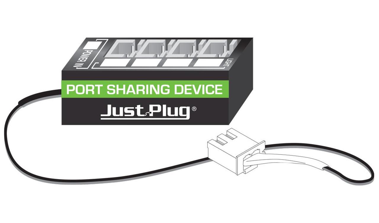 woodland scenics jp5681 just plug lighting system port sharing device
