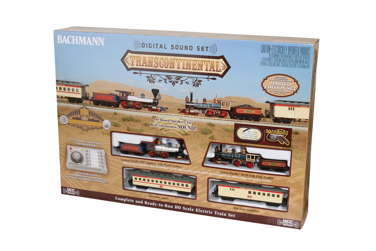 hight resolution of bachmann ho 00827 limited edition transcontinental train set union pacific e z command and digital sound modeltrainstuff