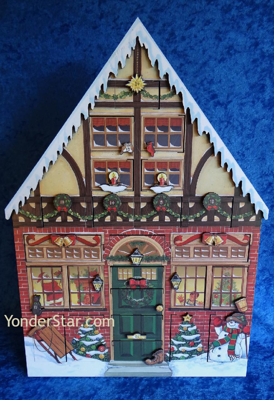 Wooden House Advent Calendar - Christmas