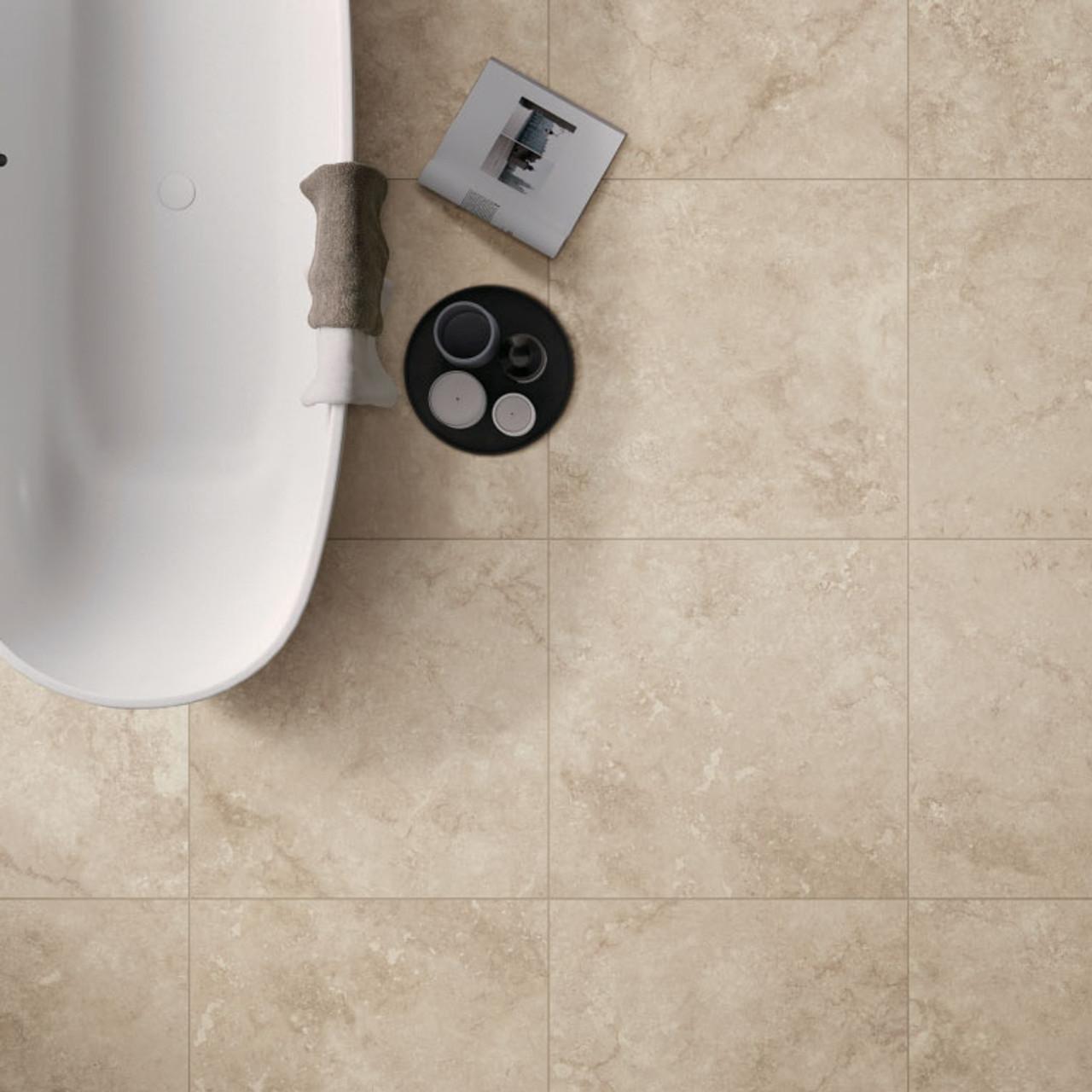 timeless beige matt 60 tile space