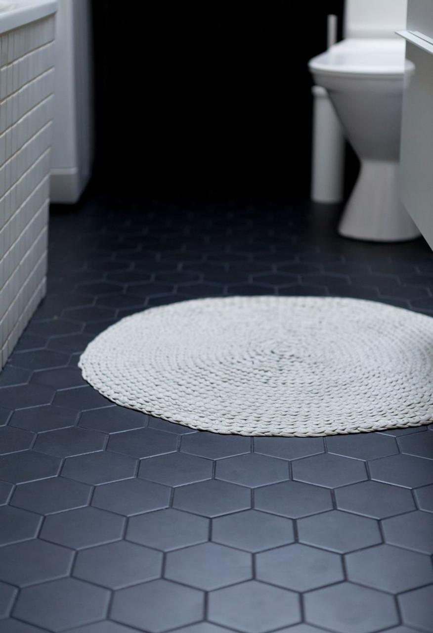 black matt hexagon 95mm tile space