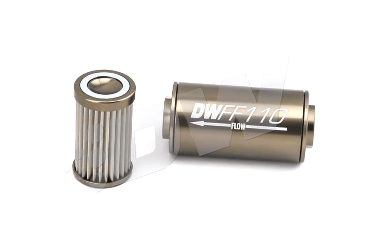 medium resolution of deatschwerks inline fuel filter stainless element e85 compatible