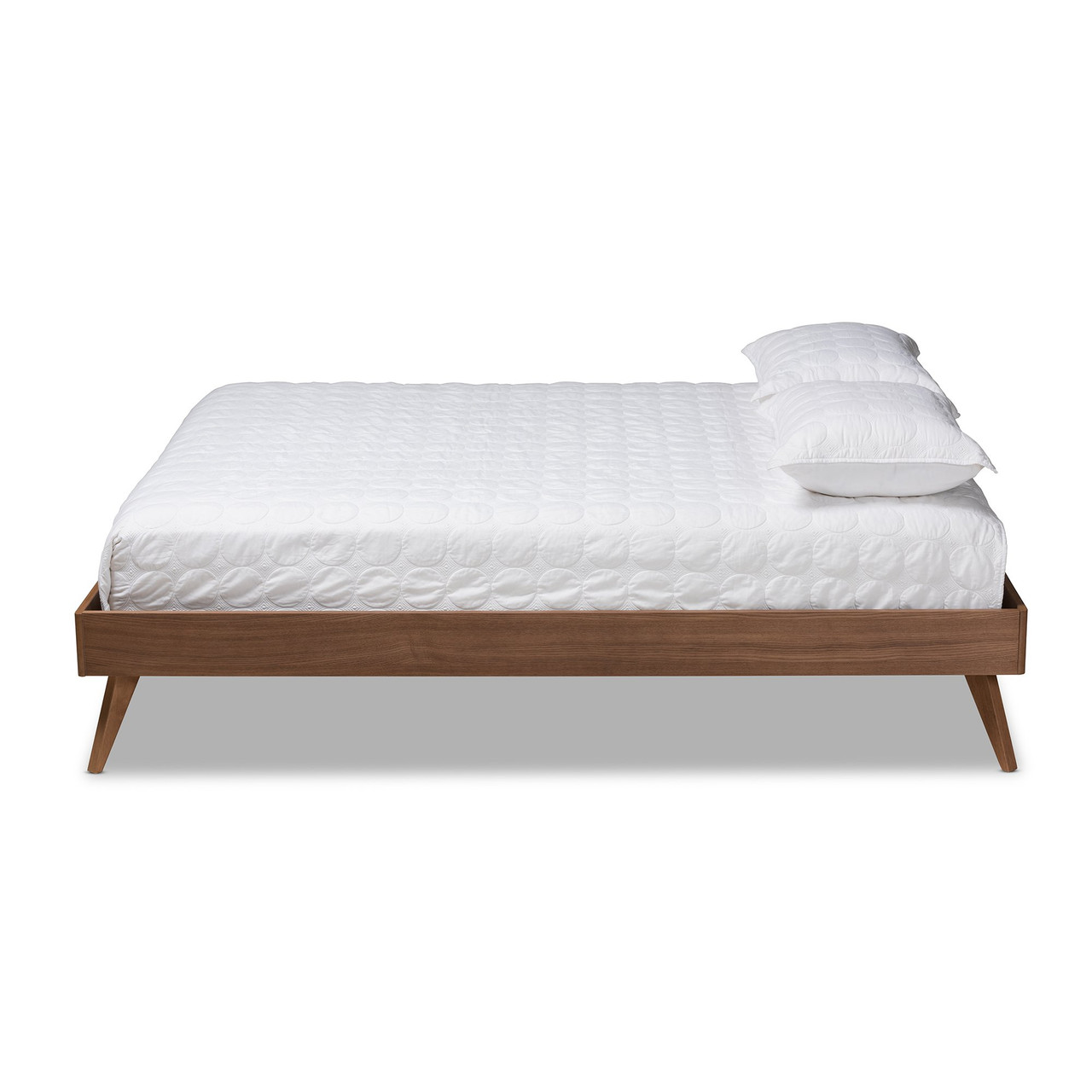 baxton lissette mid century modern walnut brown finished wood queen size platform bed frame mg9704 ash walnut bed frame queen