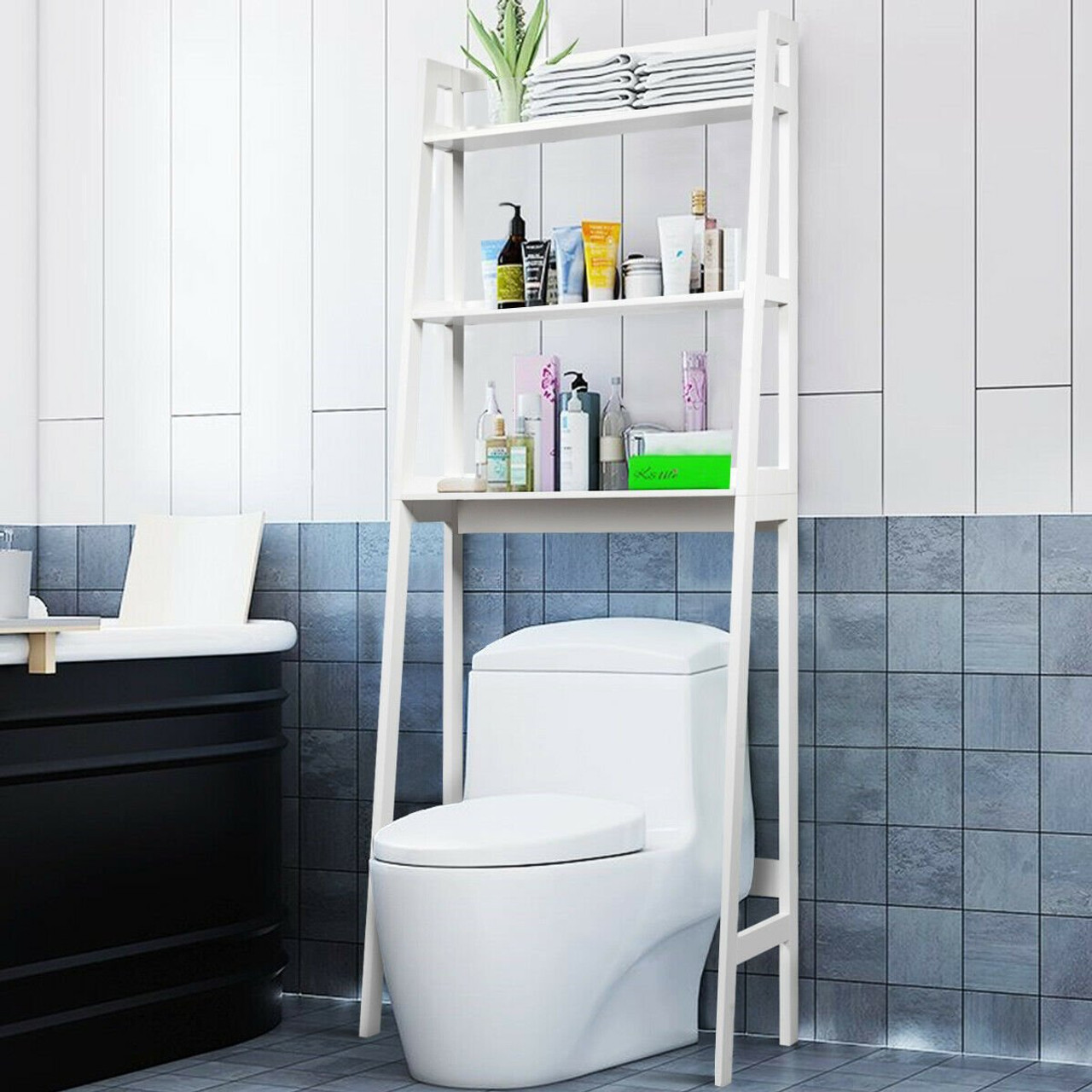 https comstrom com products 3 shelf over the toilet storage organizer rack white hw63999wh by cw