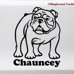 Bulldog With Personalized Name Vinyl Sticker V4 English Dog Puppy Die Cut Decal Spaar Org Pe