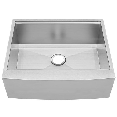 27 kitchen sink virtual makeover ticor s5301 bryce series curved apron front graduated basin ledge 16 gauge stainless