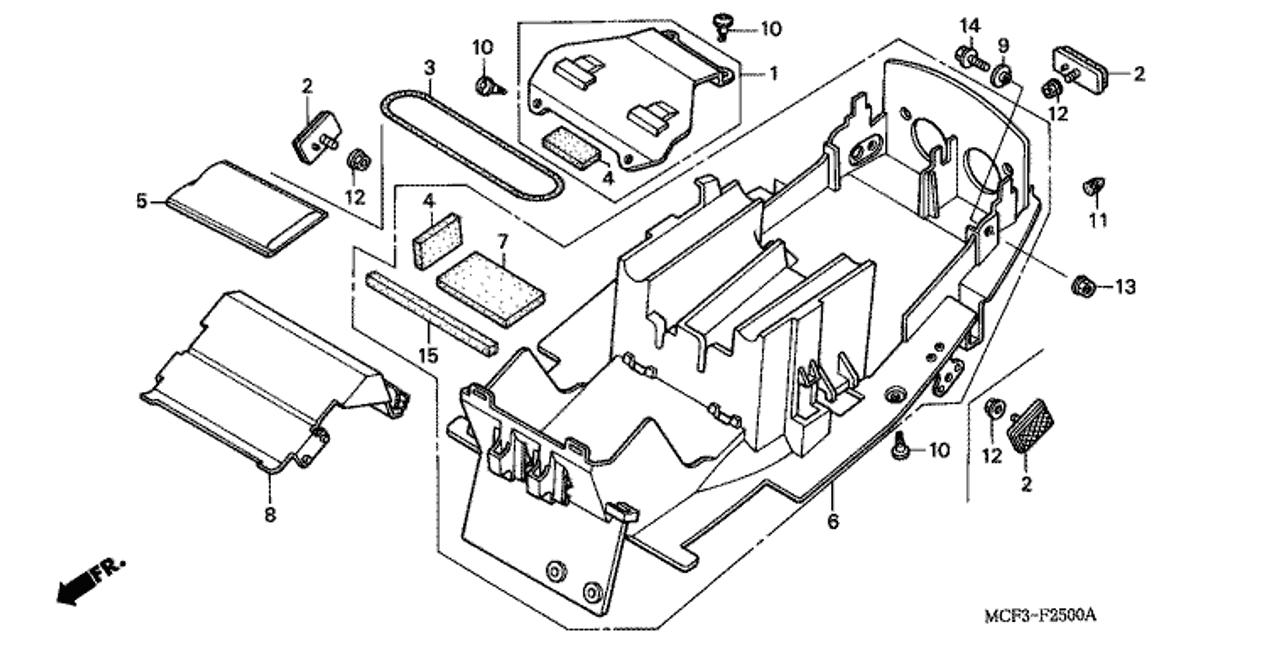 medium resolution of genuine honda rc51 2000 rear fender complete part 6 80100mcf670 2047022