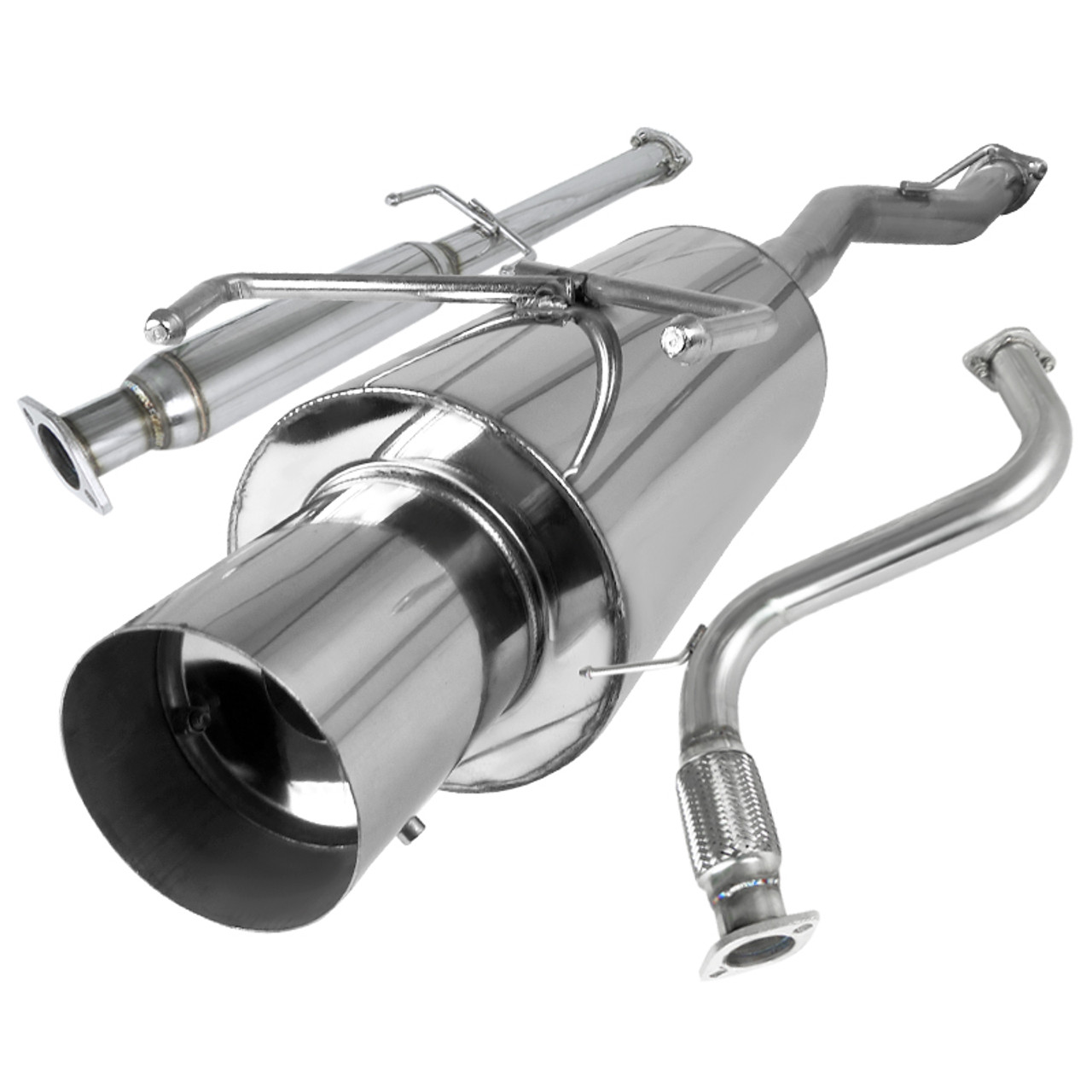 1994 1997 honda accord 4cyl t 304 stainless steel n1 style catback exhaust system