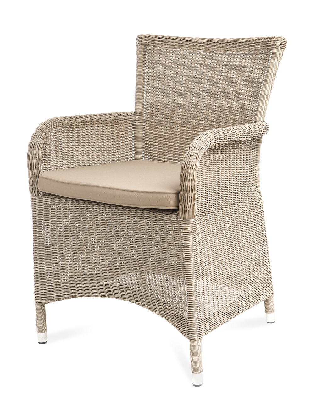 Outdoor Wicker Dining Chairs Savannah White Coral Wicker Dining Chair W Taupe Cushion Set Of 2