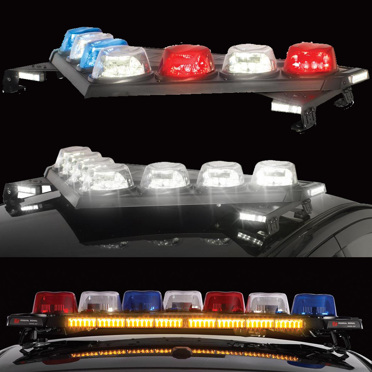 hight resolution of federal signal vision slr led light bar with traffic advisor optional full flood and