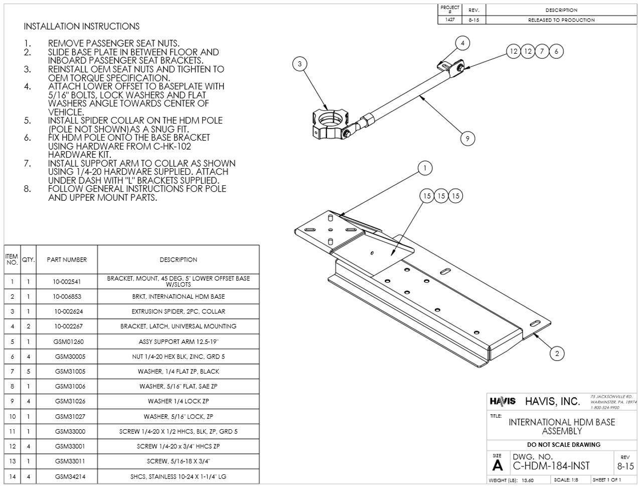 hight resolution of havis international 4300 7300 bucket seat 2011 2019 laptop stand