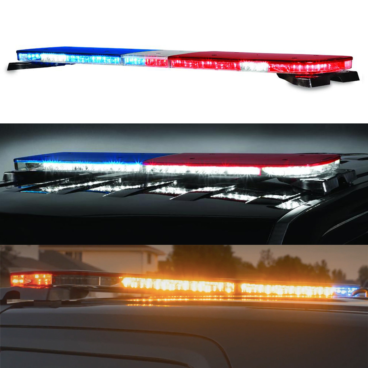 federal signal allegiant light bar 45 or 53 inch model dual color light bar [ 1000 x 1000 Pixel ]