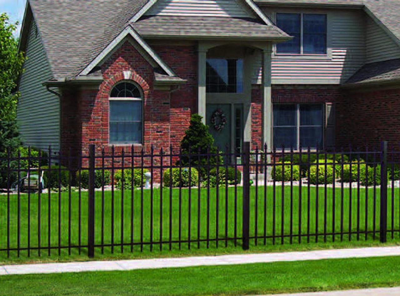 Regis 3132 Ornamental Aluminum Fence W Alternating Pickets