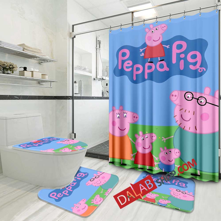 cartoon movies peppa pig d 3d customized personalized bathroom sets