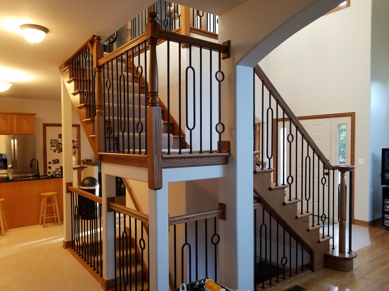 Hf16 6 2 Oval Tubular Steel Baluster Westfire Stair Parts   Tubular Design For Stairs   Finished   Minimalist   Decorative Wood Railing   Contemporary   Home Tower
