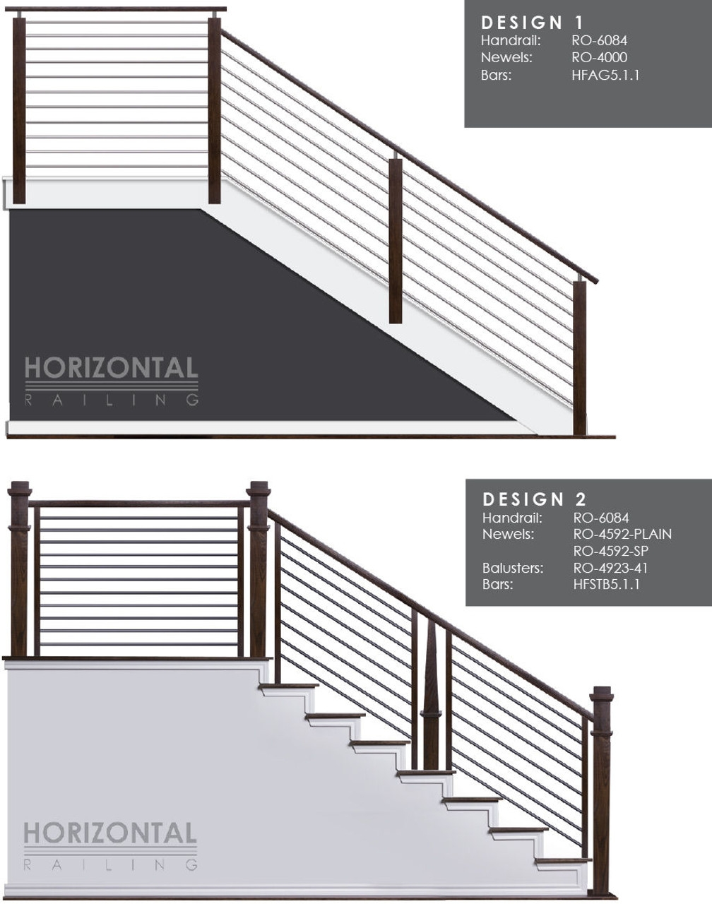 Hf5 1 1 Horizontal Railings And Bars Westfire Stair Parts | Modern Horizontal Stair Railing | Really Thin | Interior | Cast Iron | Cable | Elegant