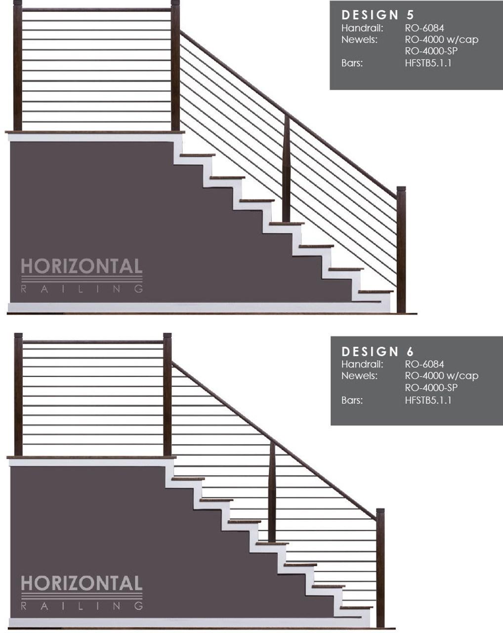 Hf5 1 1 Horizontal Railings And Bars Westfire Stair Parts | Tubular Stair Railings Design | Simple | Grill Work | Residential Industrial Stair | Welded | Stair Case Railing