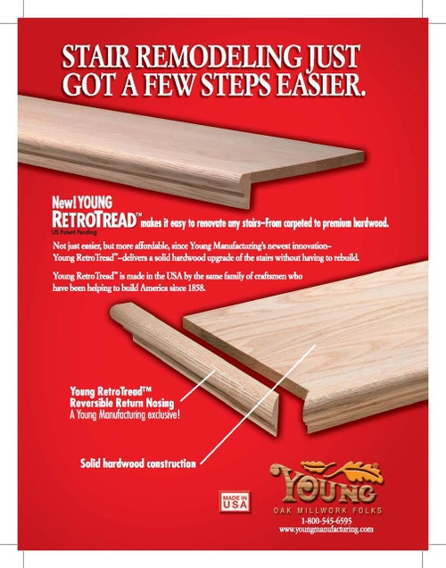 8070Rtd Retro Tread Red Oak Westfire Stair Parts 0174   Oak Retro Stair Treads   Red Oak   White Oak   Engineered Wood   Nosing   Hardwood