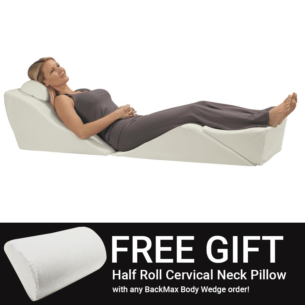 backmax foam bed wedge body cushion